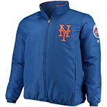 Men's Majestic Royal New York Mets Big & Tall On-Field Premier Full-Zip Jacket
