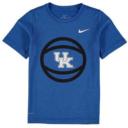 Youth Nike Royal Kentucky Wildcats Basketball and Logo Performance T-Shirt
