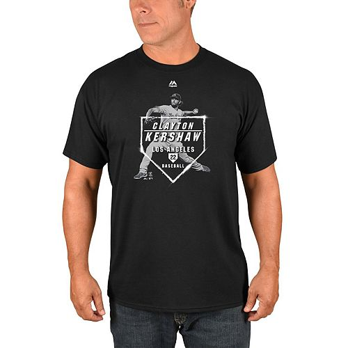 Men's Majestic Clayton Kershaw Black Los Angeles Dodgers Memorabele Moment Player T-Shirt