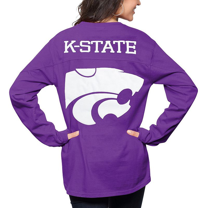 Women's Pressbox Purple Kansas State Wildcats The Big Shirt Oversized Long Sleeve T-Shirt, Size: Medium