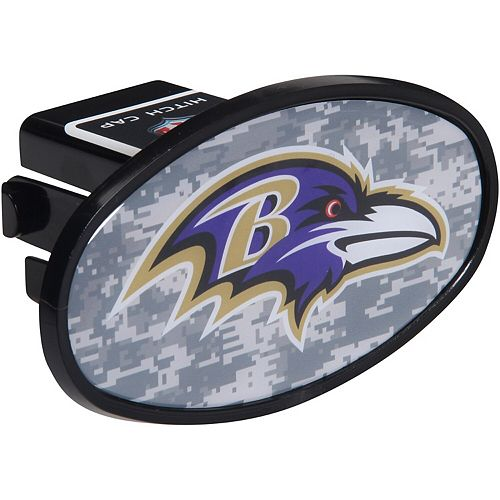 "Baltimore Ravens Plastic Oval Fixed 2"" Digi Camo Hitch Receiver"