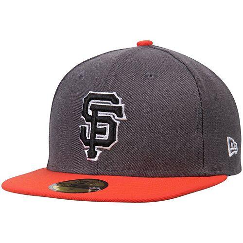 Men's New Era Charcoal/Orange San Francisco Giants Shader Melt 2 59FIFTY Fitted Hat