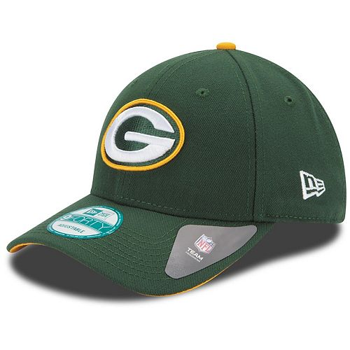 Youth New Era Green Green Bay Packers League 9FORTY Adjustable Hat