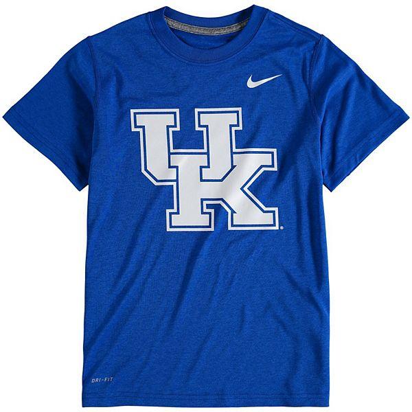 Youth Nike Royal Kentucky Wildcats Logo Legend Dri-FIT T-Shirt