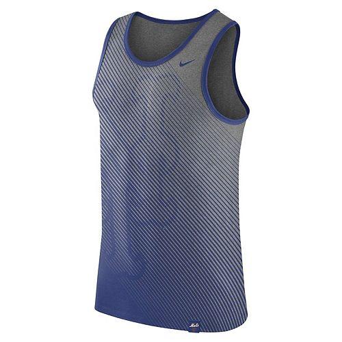 Men's Nike Heathered Gray New York Mets 1.7 Tri-Blend Tank Top