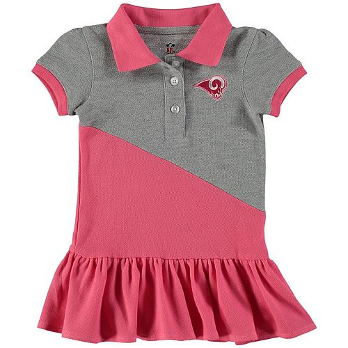 Girls Toddler Pink Los Angeles Rams Good Sport Polo Dress