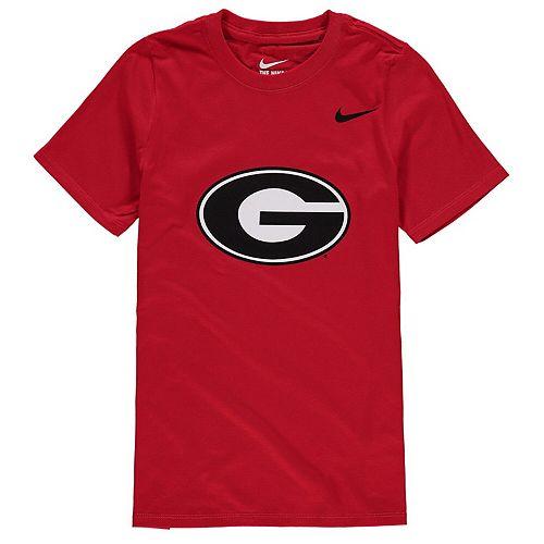 Youth Nike Red Georgia Bulldogs Cotton Logo T-Shirt