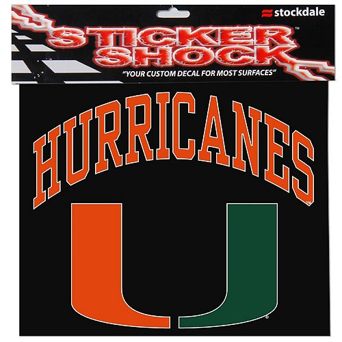 "Miami Hurricanes 12"" x 12"" Arched Logo Decal"