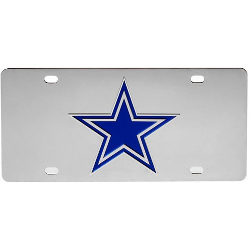 Dallas Cowboys Stainless Steel License Plate