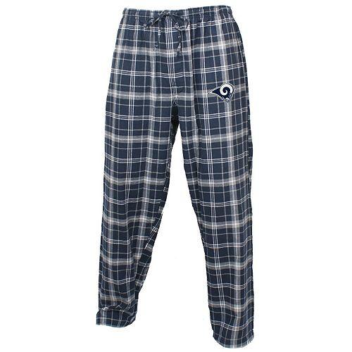 Men's Concepts Sport Navy/Gray Los Angeles Rams Ultimate Plaid Flannel Pajama Pants