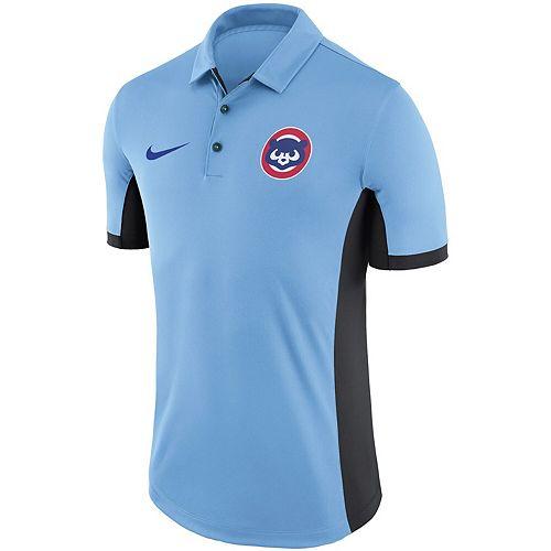 Men's Nike Light Blue Chicago Cubs Performance Franchise Polo