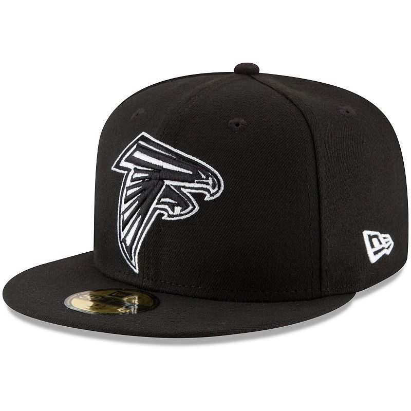 Men's New Era Black Atlanta Falcons B-Dub 59FIFTY Fitted Hat, Size: 7 1/2