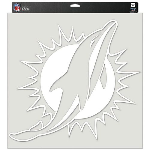 """WinCraft Miami Dolphins 17"""" x 17"""" Perfect Cut Decal"""