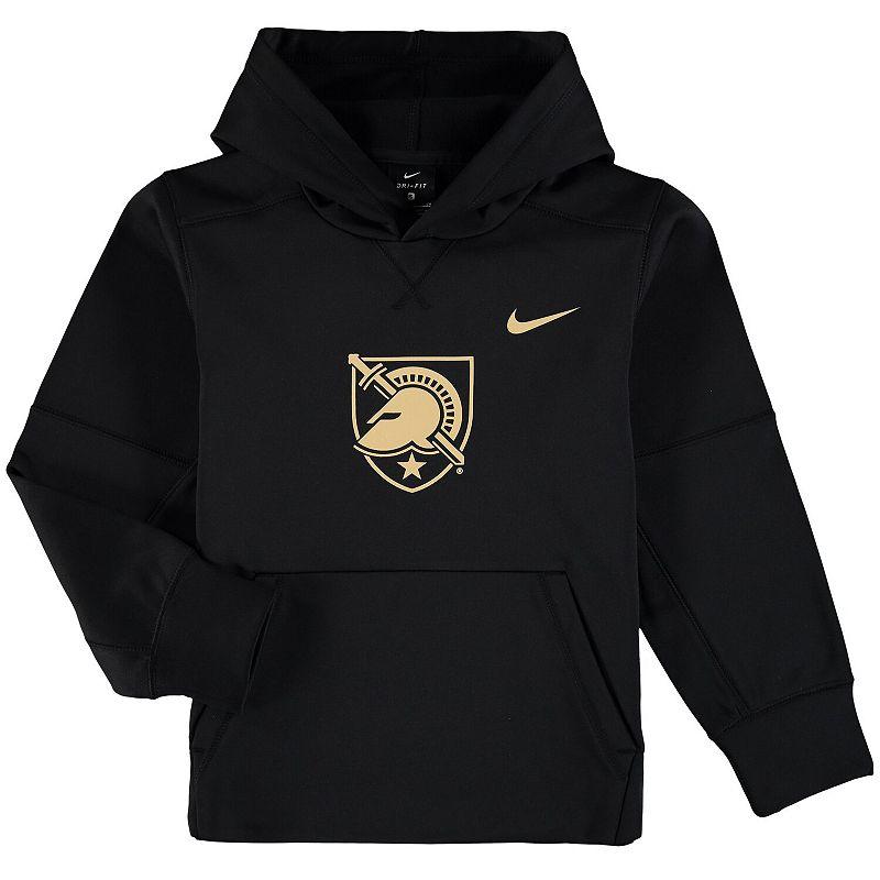 Youth Nike Black Army Black Knights Logo KO Pullover Performance Hoodie, Boy's, Size: YTH Large