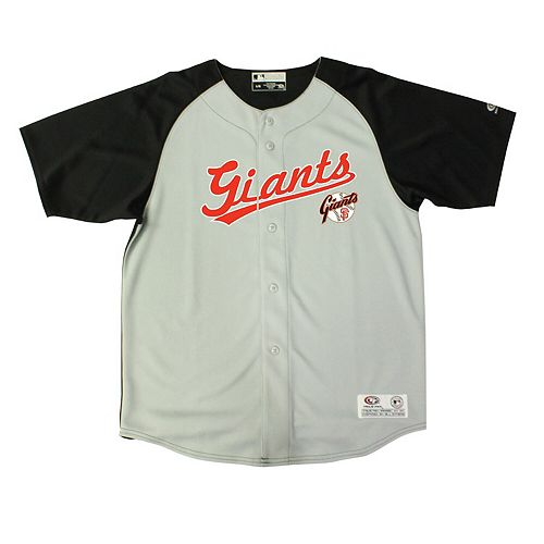 best service d682f 9b5e0 Youth Stitches Gray/Black San Francisco Giants Double Play Jersey