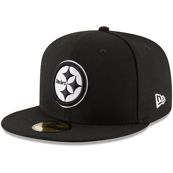Men's New Era Black Pittsburgh Steelers B-Dub 59FIFTY Fitted Hat