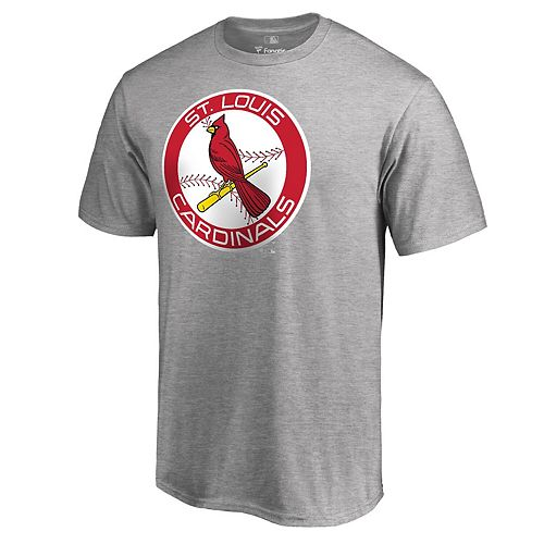 Men's Fanatics Branded Heathered Gray St. Louis Cardinals Big & Tall Cooperstown Collection Huntington T-Shirt