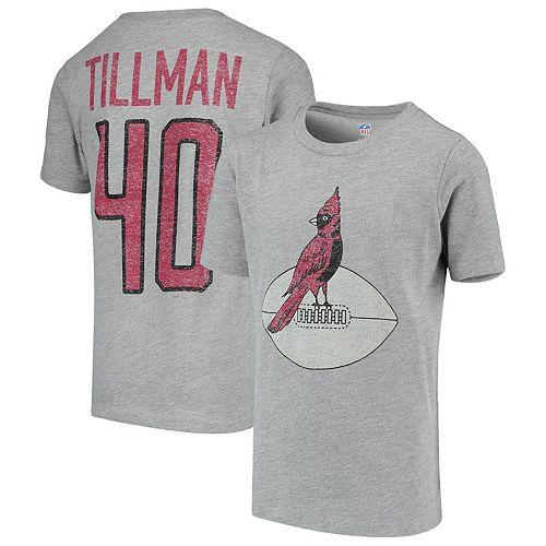Youth Pat Tillman Heathered Gray Arizona Cardinals Retired Player Vintage Name & Number T-Shirt