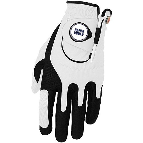 Men's White Indianapolis Colts Left Hand Golf Glove & Ball Marker Set