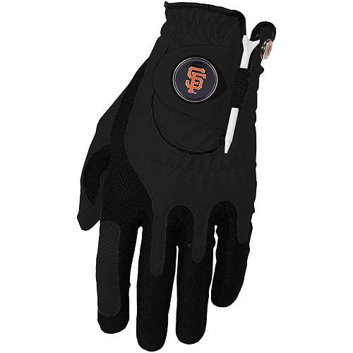 Men's Black San Francisco Giants Left Hand Golf Glove & Ball Marker Set