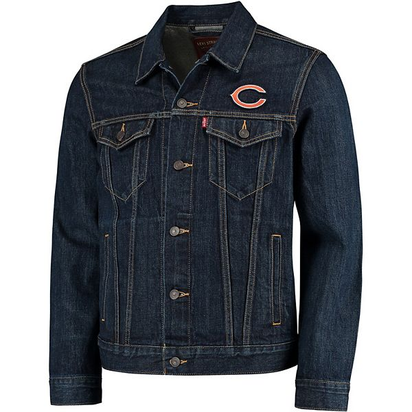 Men's Levi's® Blue Chicago Bears Sports Denim Trucker Jacket