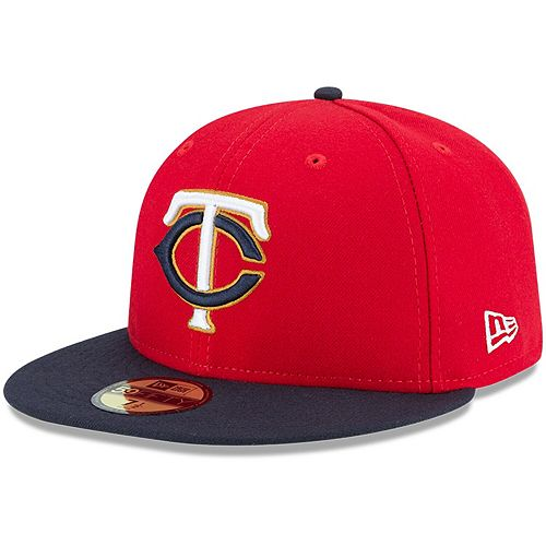 Youth New Era Red/Navy Minnesota Twins Authentic Collection On-Field Alternate 2 59FIFTY Fitted Hat
