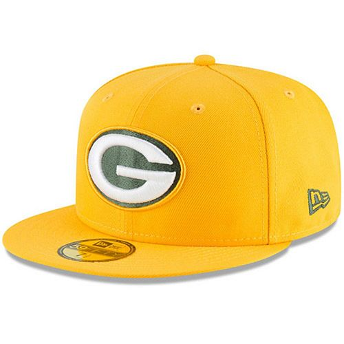 Men's New Era Gold Green Bay Packers Omaha 59FIFTY Hat
