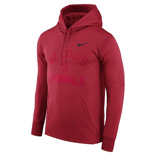 Men's Nike Red St. Louis Cardinals Therma Pullover Hoodie