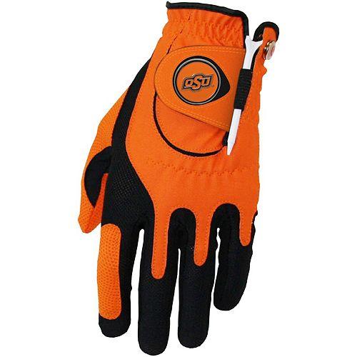 Men's Orange Oklahoma State Cowboys Left Hand Golf Glove & Ball Marker Set