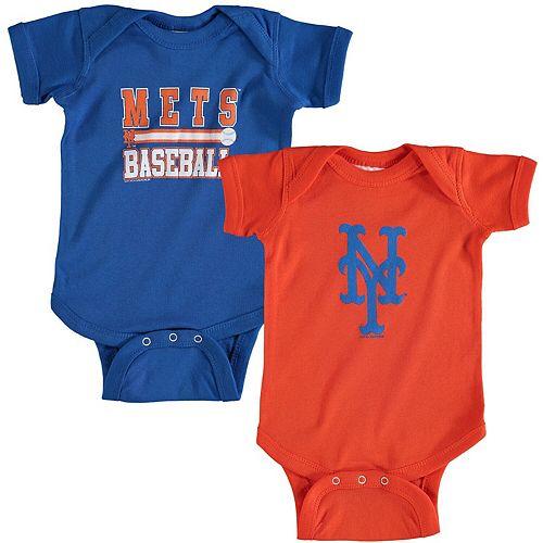 Newborn & Infant Soft as a Grape Royal/Orange New York Mets 2-Piece Body Suit
