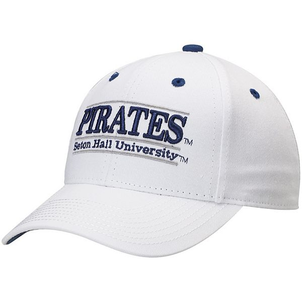 Men's The Game White Seton Hall Pirates Classic Bar Structured Adjustable Hat