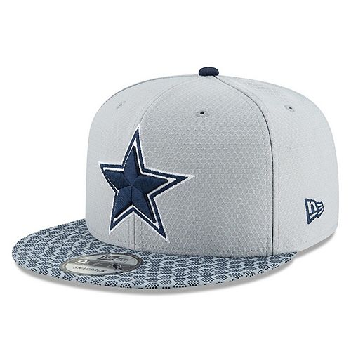 Dallas Cowboys New Era Youth 2017 Sideline Official 9FIFTY Snapback Hat - Gray