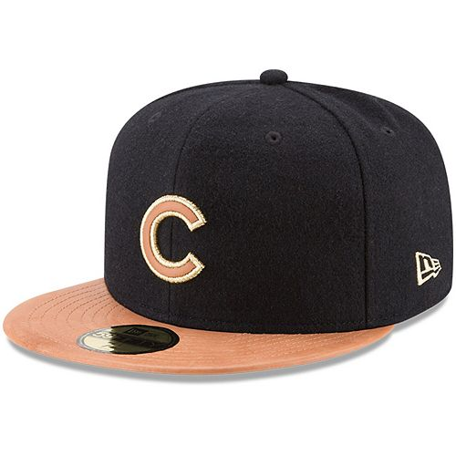 Men's New Era Black/Natural Chicago Cubs Wilson Collaboration 59FIFTY Fitted Hat
