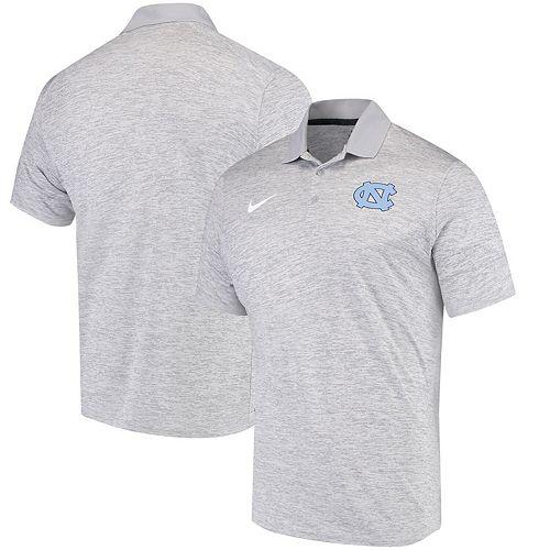 Men's Nike Heathered Gray North Carolina Tar Heels Primary Collegiate Dry Polo