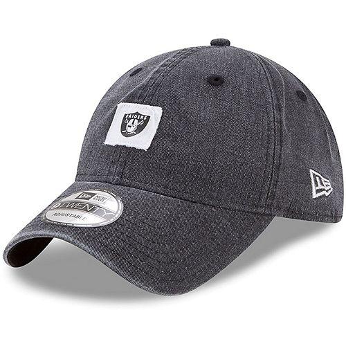 Men's New Era Black Oakland Raiders Stamped 9TWENTY Adjustable Hat