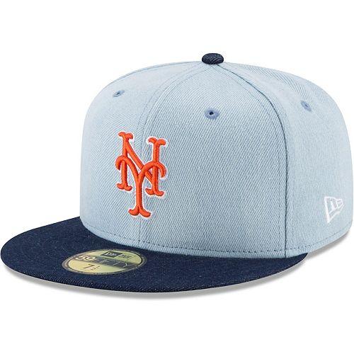 NEW ERA NEW YORK KNICKS 2 TONE BASIC GREY ORANGE FITTED HAT  59FIFTY MEN SZ 7-8