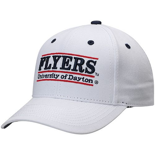 Men's The Game White Dayton Flyers Classic Bar Structured Adjustable Hat