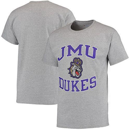 Men's Champion Gray James Madison Dukes Tradition T-Shirt