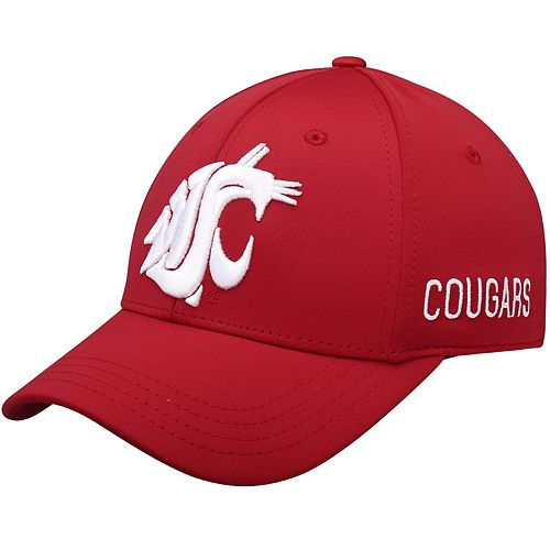Men's Top of the World Crimson Washington State Cougars Choice Flex Hat