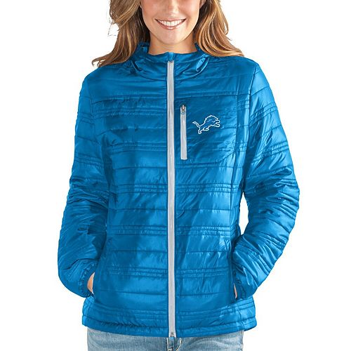 Women's G-III 4Her by Carl Banks Light Blue Detroit Lions Formation Packable Full-Zip Jacket