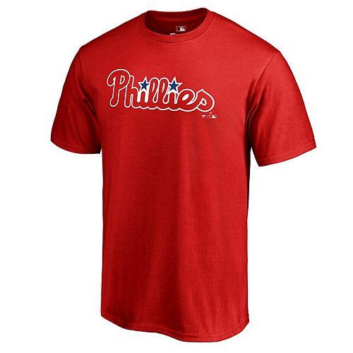 Men's Fanatics Branded Red Philadelphia Phillies Team Wordmark T-Shirt