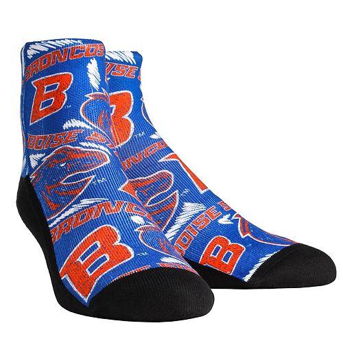 Women's Boise State Broncos Logo Sketch Quarter Socks