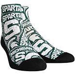 Men's Michigan State Spartans Logo Sketch Quarter-Length Socks
