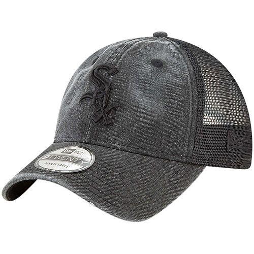 Men's New Era Black Chicago White Sox Tonal Washed 9TWENTY Adjustable Hat