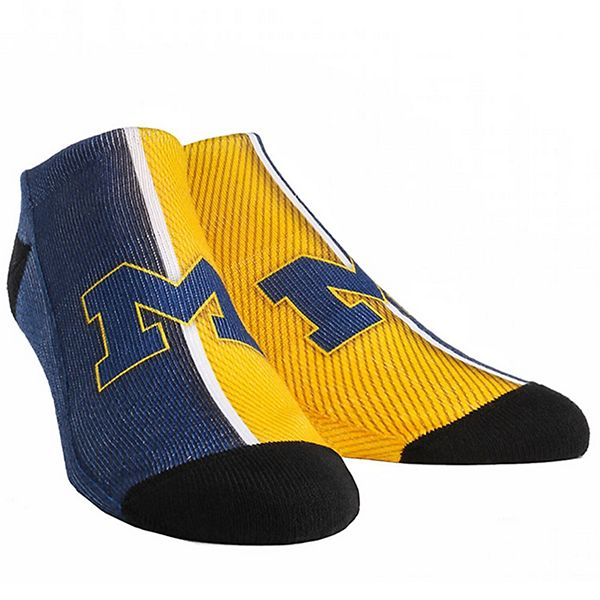 Youth Michigan Wolverines Campus Stripe Ankle Socks