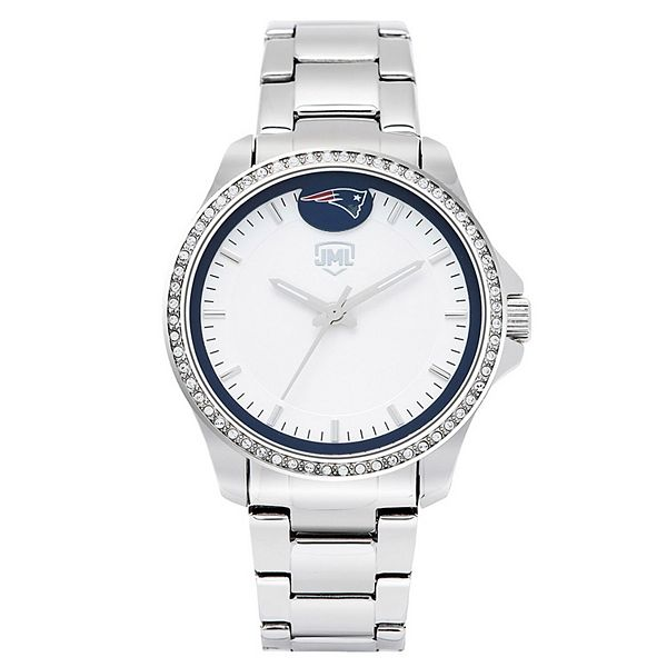 Women's  New England Patriots Legacy Crystal 3-Hand Watch