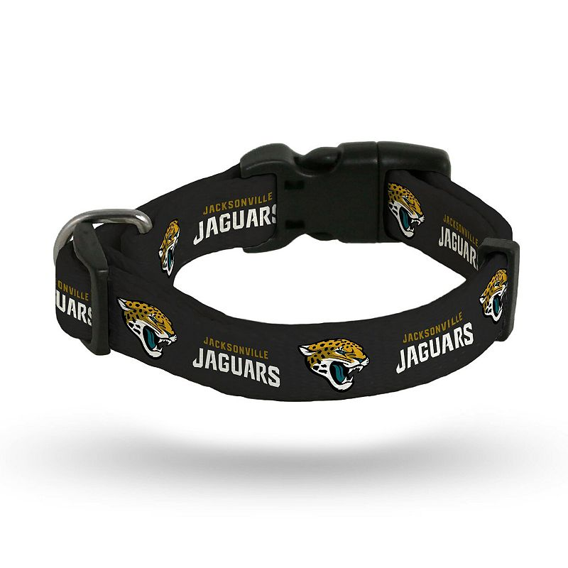 Sparo Jacksonville Jaguars Rugged Pet Collar, Black