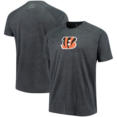 Men's Under Armour Charcoal Cincinnati Bengals Combine Authentic Jacquard Tech T-Shirt