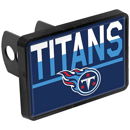 Tennessee Titans Duo-Tone Rectangular Plastic Hitch Cover