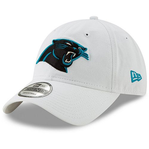 Men's New Era White Carolina Panthers Core Classic White 9TWENTY Adjustable Hat